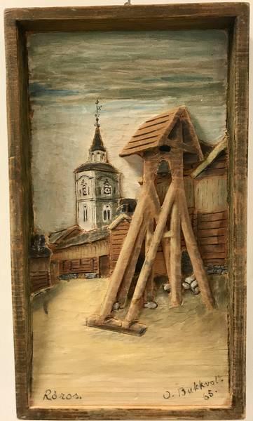 Bilde av Bukkvoll, Rørosmotiv 15 x 26 cm